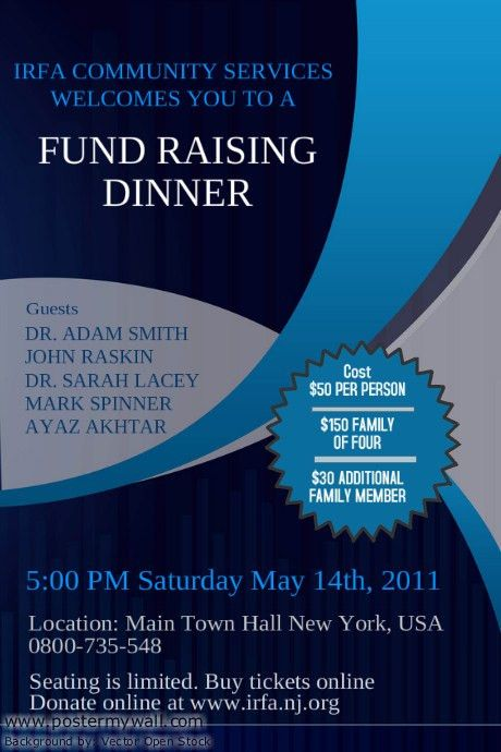 Fundraising Event Flyer Template | PosterMyWall