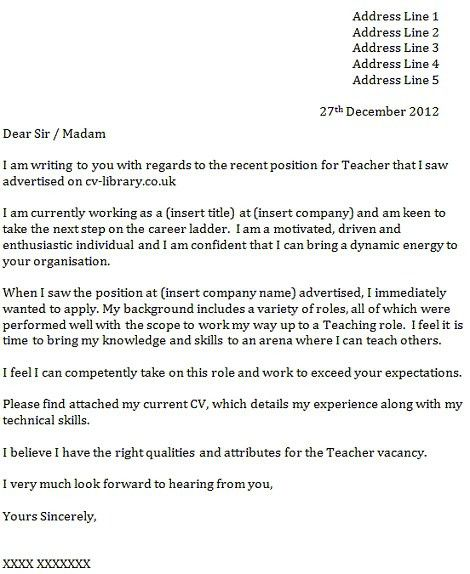 Cover Letter Examples Job Fox Uk With Regard To How Write A ...
