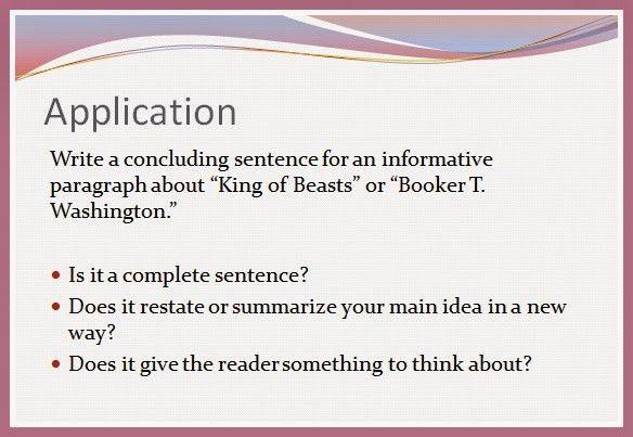 Seventh grade Lesson Concluding Sentences | BetterLesson