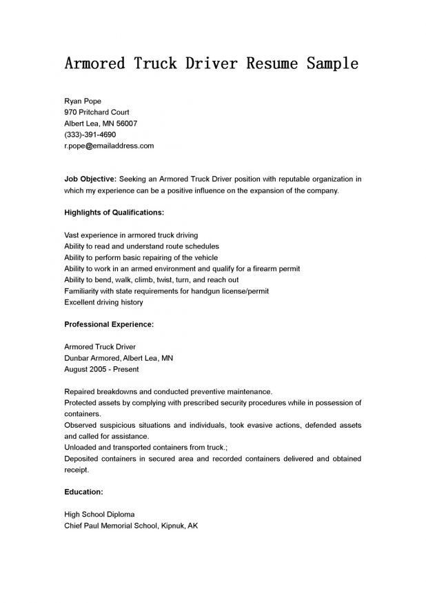 cover letter Commercial Truck Driver Job Description job ...
