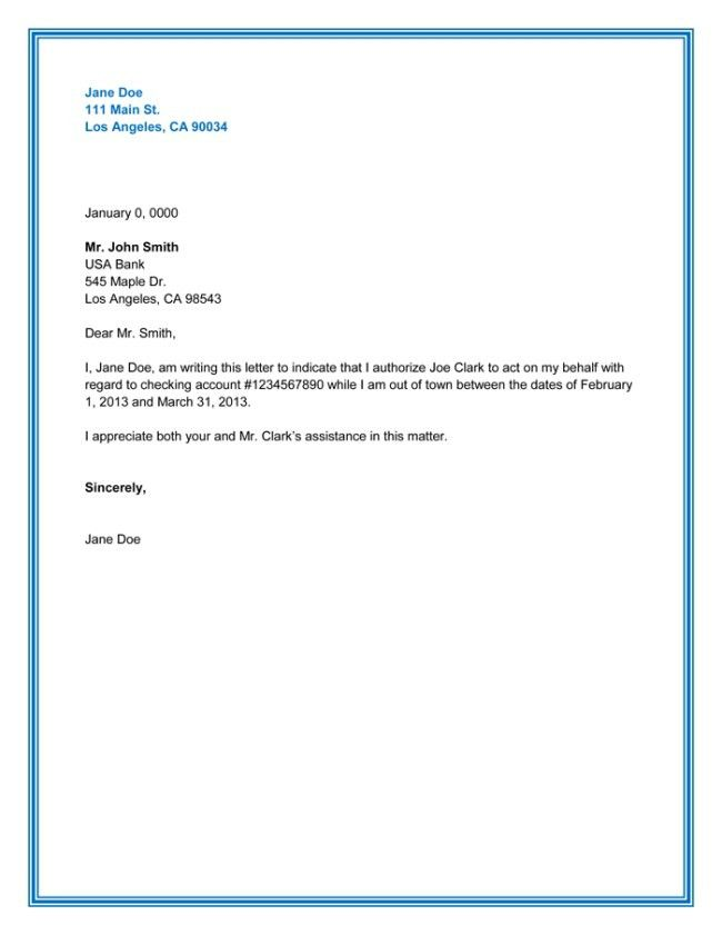Sample Bank Authorization Letter. Authorization Letter Mom ...