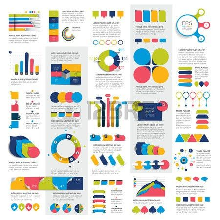 Mega Set Of Business Design 3D Graphs, Charts, Templates, Schemes ...