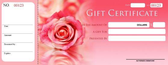 Custom Gift Certificates, Blank Gift certificates, Print Gift ...