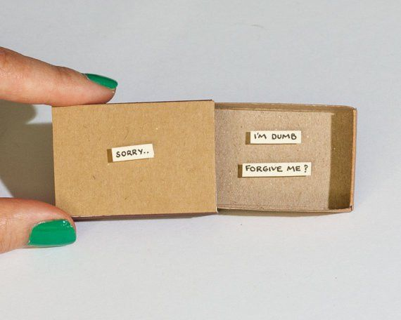 Sorry Card / Forgive me Card / Apology Card Matchbox / Message box ...