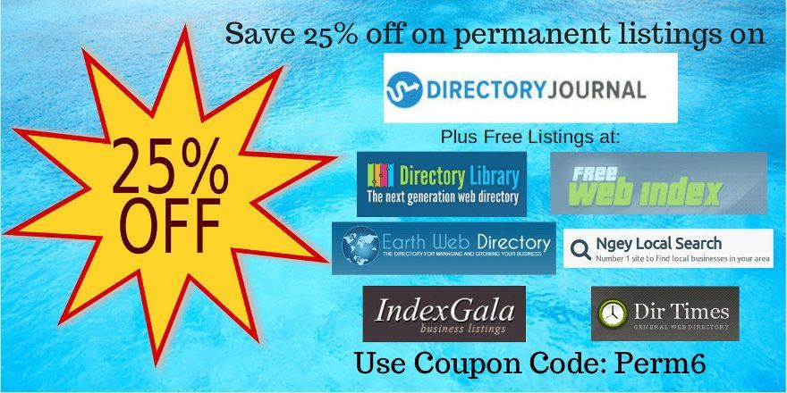 DirJournal Offers 25% Discount on Permanent Listings and Free ...