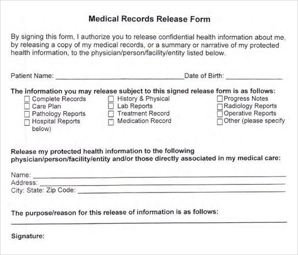 How To Create A Medical Release Form U2013 Online Intake Forms .  Medical Authorization Form Template