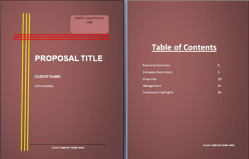 Bank Loan Proposal Template | Free Proposal Templates