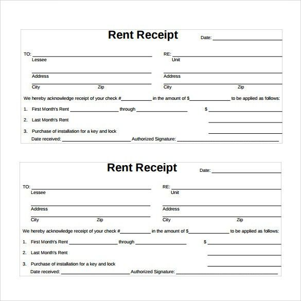 Sample Rent Receipt Template - 12+ Download Free Documents in PDF ...