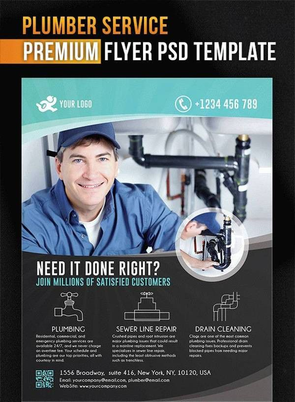 9+ Beautiful Plumber Flyers | Free & Premium Templates