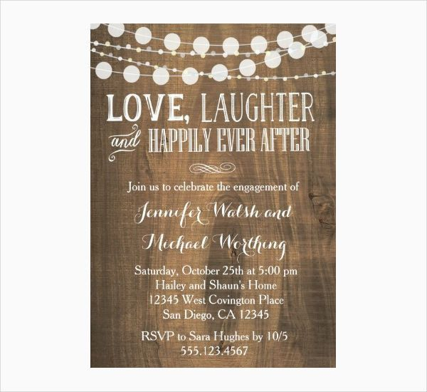 9+ Engagement Party Invitations - Free Editable PSD, AI, Vector ...