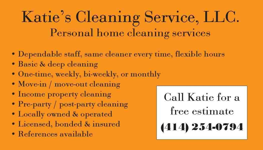 Katie's Cleaning Service - Business Card   EVH Marketing
