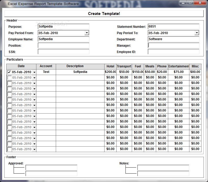 excel templates for expenses - Template