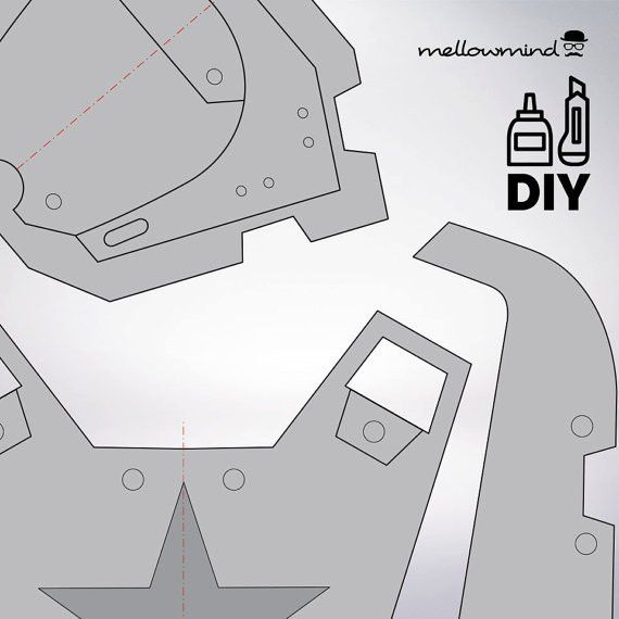DIY Fallout4: Sturdy Combat Armor templats for EVA foam | movie ...