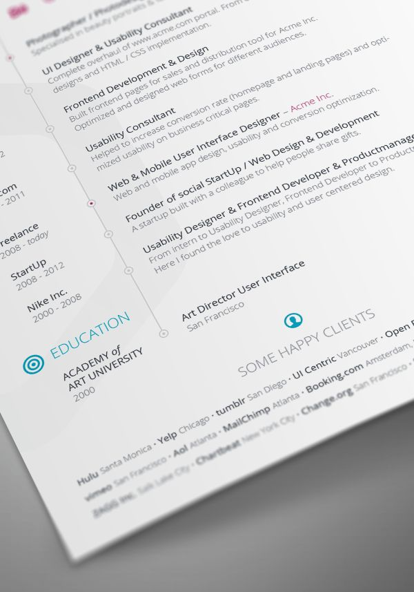 Vita InDesign Resume Template | Best PSD Freebies