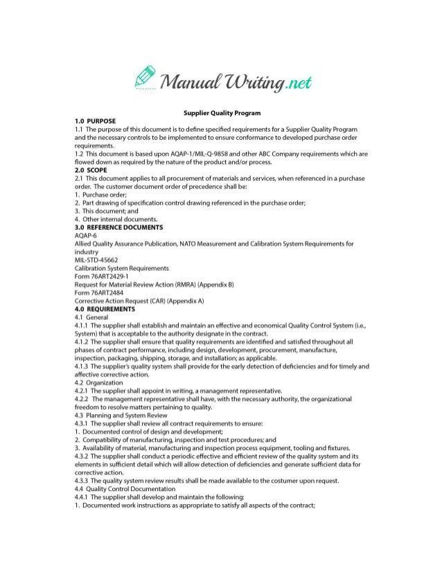 Operations Manual Sample