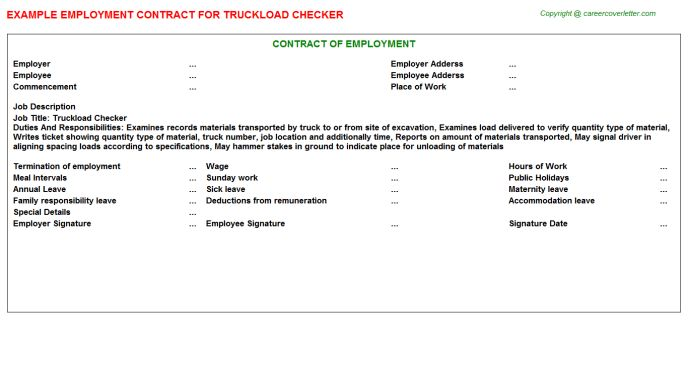 Employment Contracts Samples For Jobs