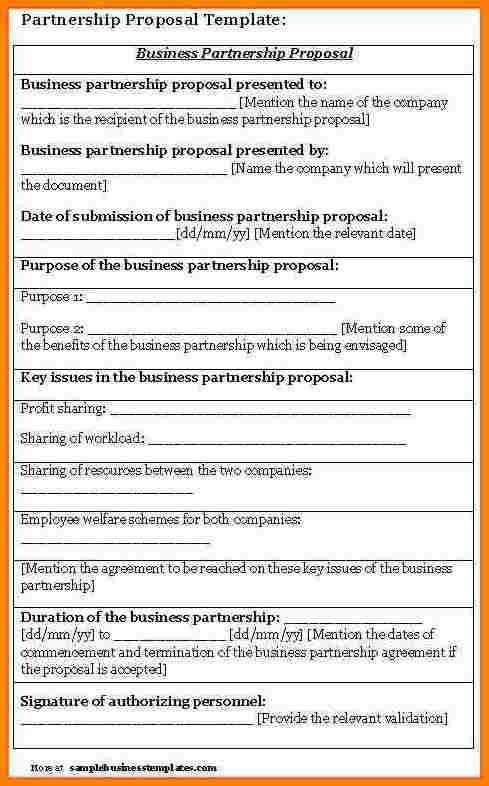 8+ business partnership proposal sample | Proposal Template 2017