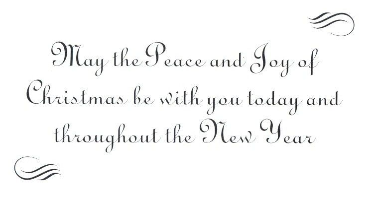 christmas card words