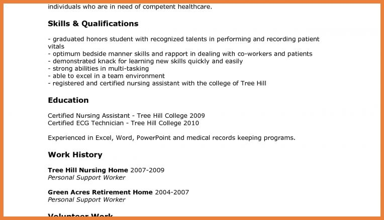 download sample resume for cna haadyaooverbayresortcom - Nursing Assistant Sample Resume