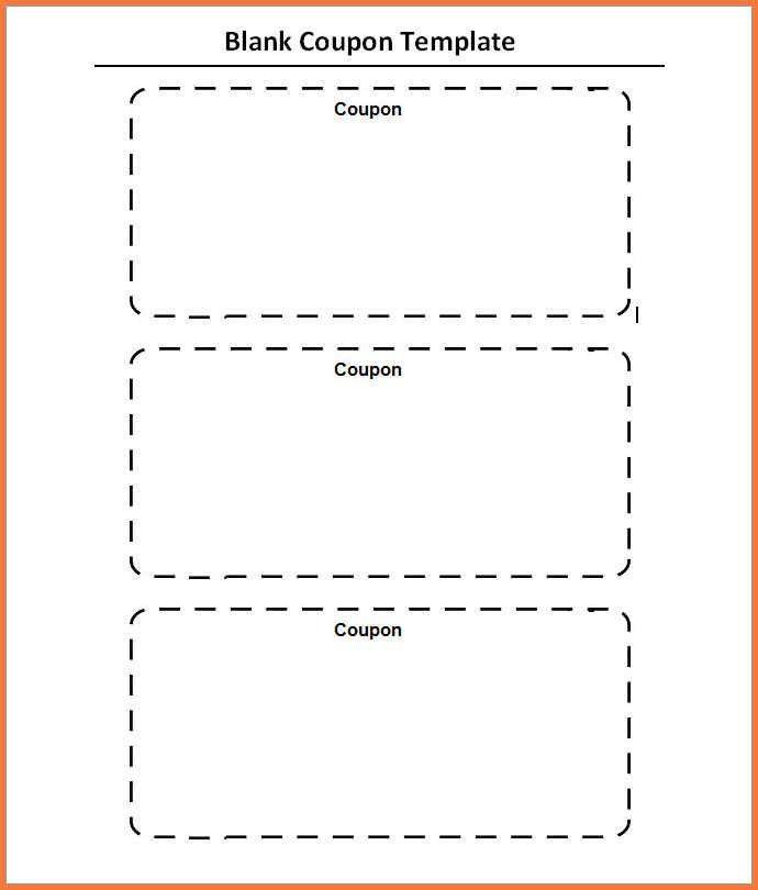 Blank Coupon Template - Contegri.com