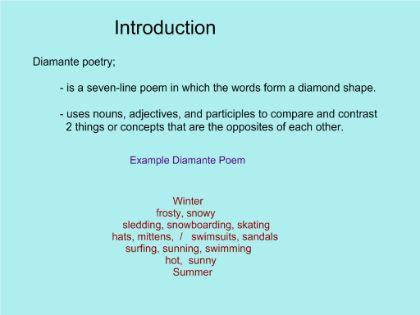 SMART Exchange - USA - Diamante Poems