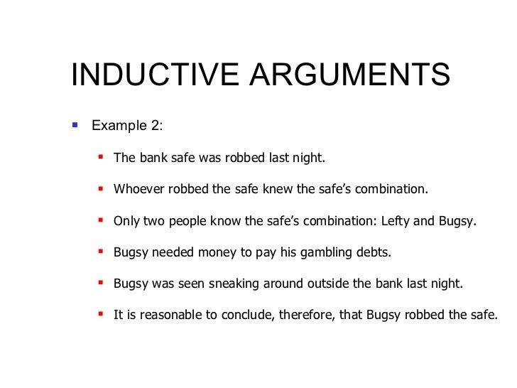 Analysis - Inductive and Deductive Arguments