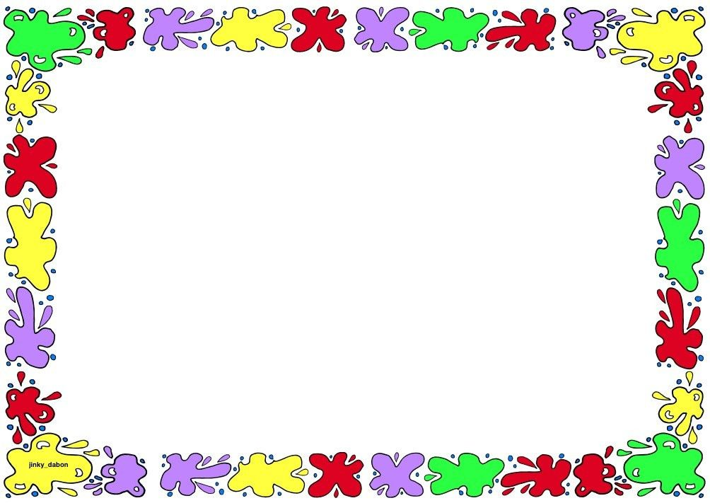 Paint themed lined paper and page borders for your English writing ...