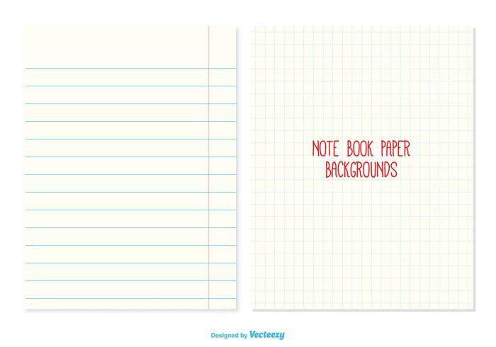 Notebook Paper Backgrounds - Download Free Vector Art, Stock ...