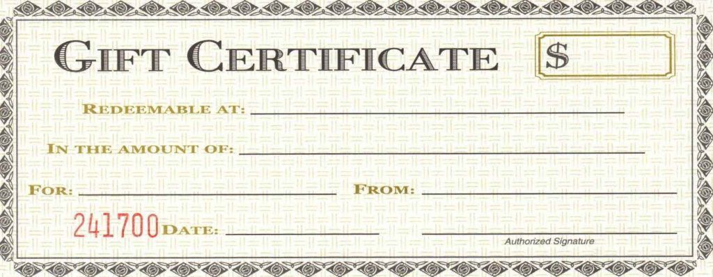 Free Business Gift Certificate Template - Template Update234.com ...