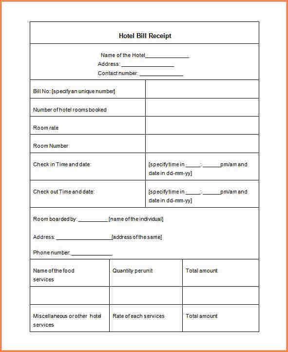 Hotel Invoice. Hotel Receipt Template Excel Hotel Invoice Invoic ...