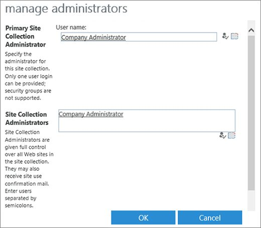 Manage administrators for a site collection - SharePoint