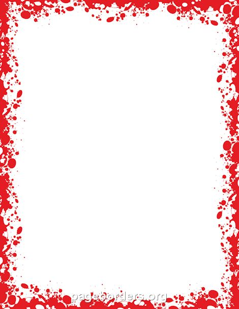 Printable blood border. Use the border in Microsoft Word or other ...