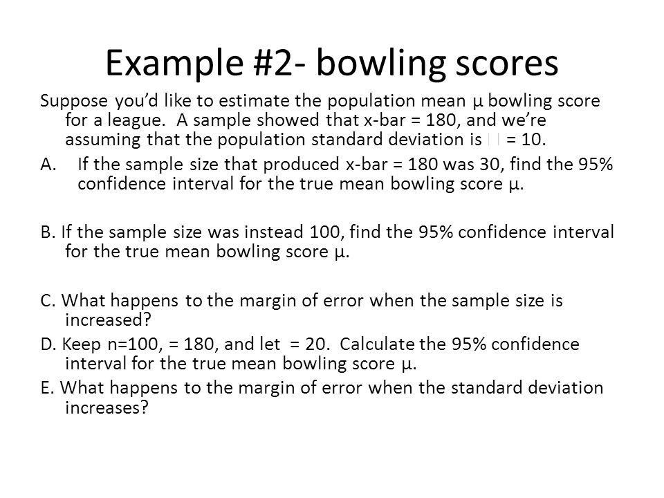 Ch. 8 – Practical Examples of Confidence Intervals for z, t, p ...