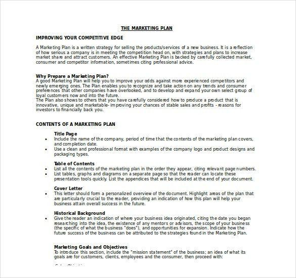 15+ Microsoft Word Marketing Plan Templates | Free & Premium Templates