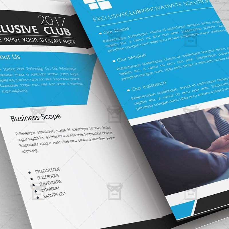 Corporate Brochure – Free Tri-Fold Brochure PSD Template ...