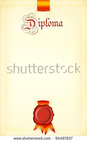 Blank Diploma Border Medieval Royal Style Stock Illustration ...