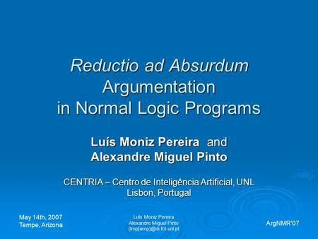NMR98 - Logic Programming1 Learning with Extended Logic Programs ...