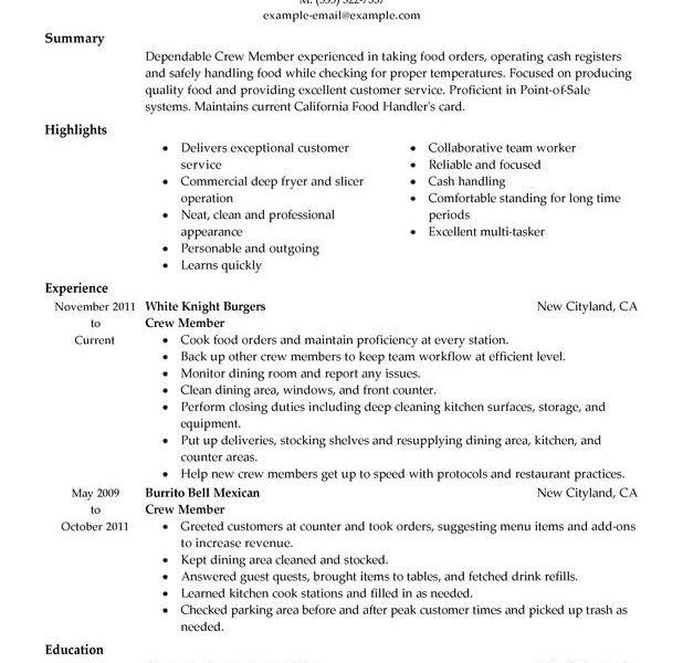 food service resume template resume format download pdf. brand ...