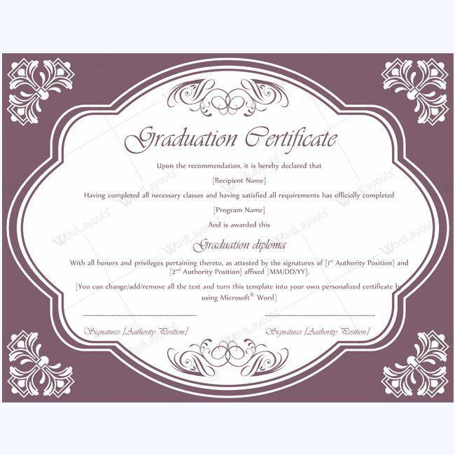 13 best Graduation Certificate Templates images on Pinterest ...