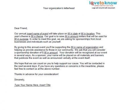 Sponsorship Letter Sample Crna Cover Inside For 23 Wonderful ...