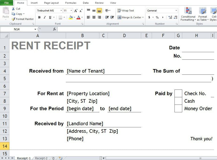 Where Can You Find The Best Excel & Word Rental Receipt Templates ...