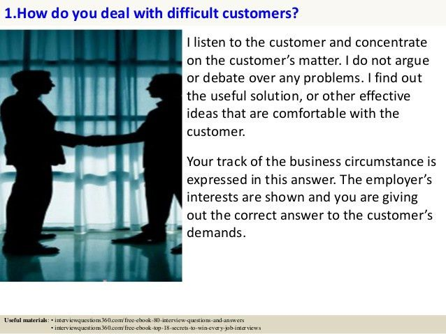 125 customer service interview questions and answers pdf | get the ...