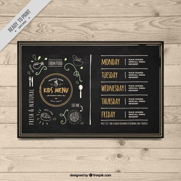 Elegant vintage children's menu template Vector | Free Download