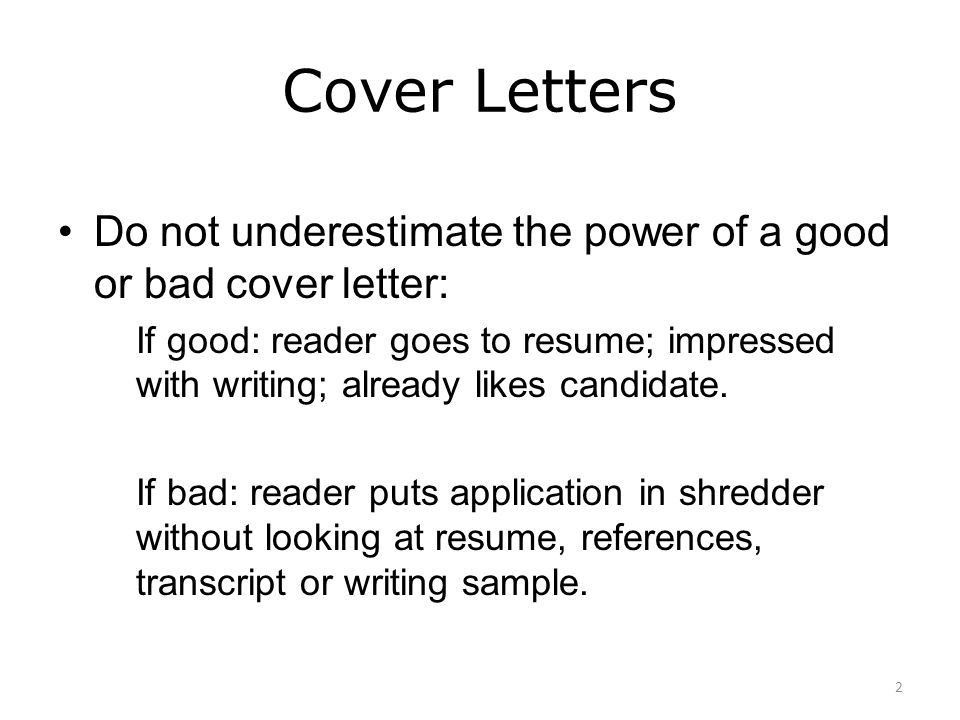 COVER LETTER WRITING WORKSHOP - ppt download
