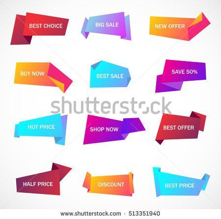 Vector Stickers Price Tag Banner Label Stock Vector 449434135 ...