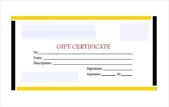 12+ Blank Gift Certificate Templates – Free Sample, Example Format ...