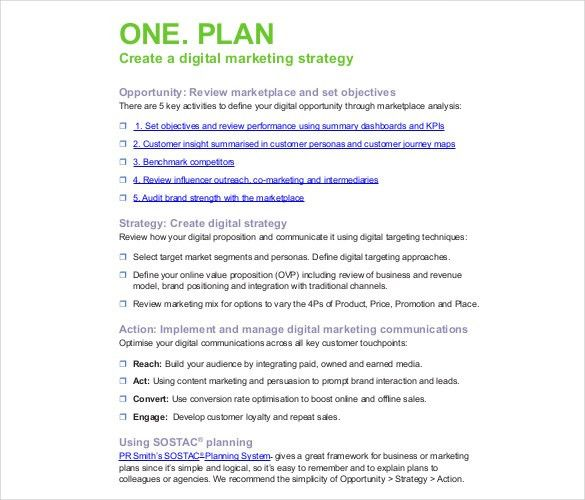 Marketing Strategy. Digital Marketing Strategy Planning Template ...