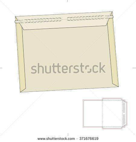 Envelope Zipper Seal Die Cut Template Stock Vector 371676619 ...