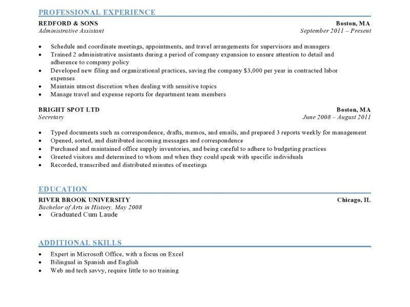 Download Format Of A Resume | haadyaooverbayresort.com