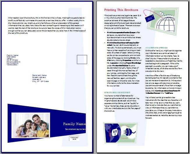 Brochure Templates – OpenOffice Writer Templates